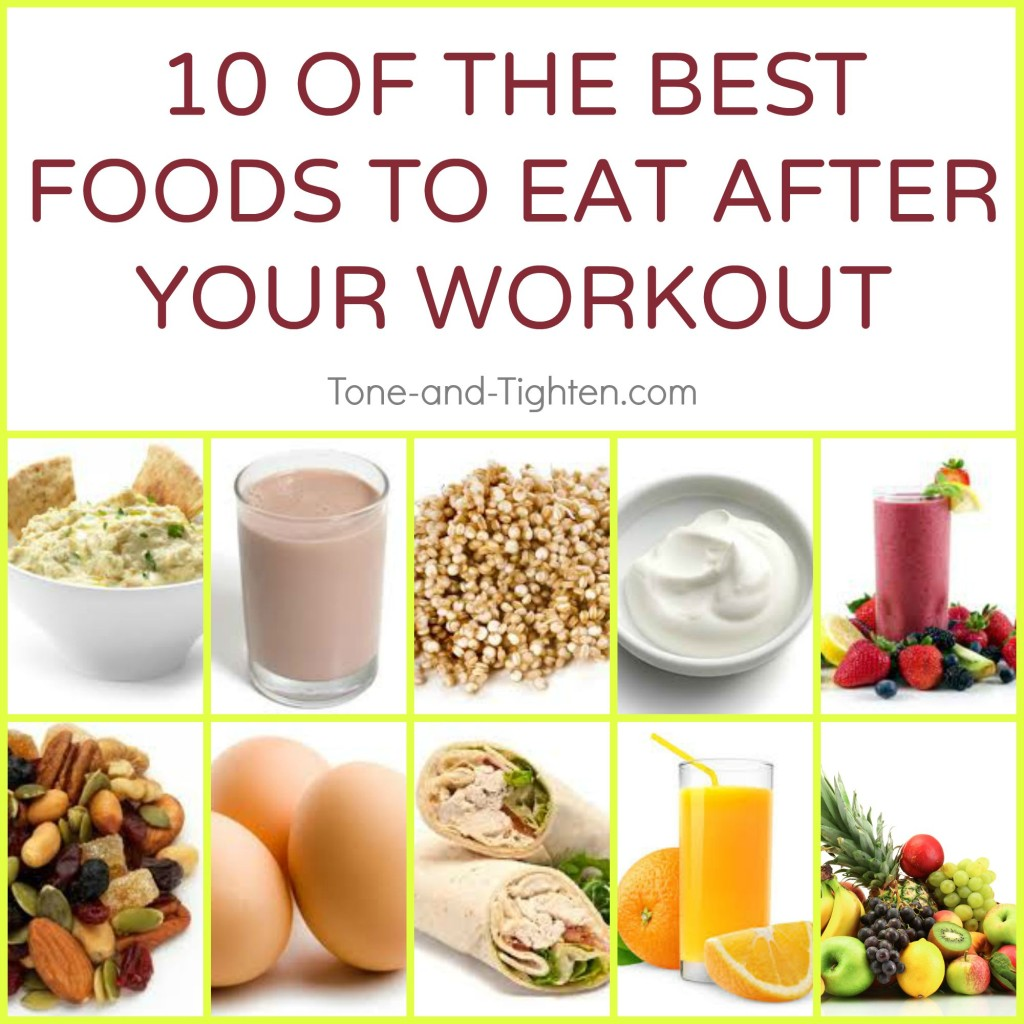 best foods to eat after workout exercise tone tighten