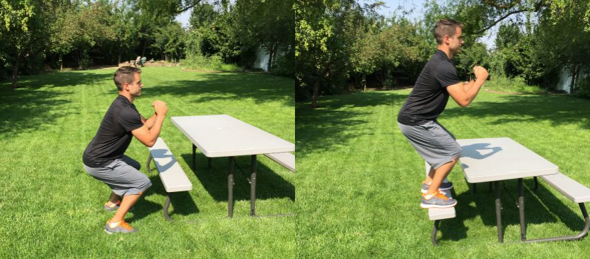 box bench jumps tone tighten