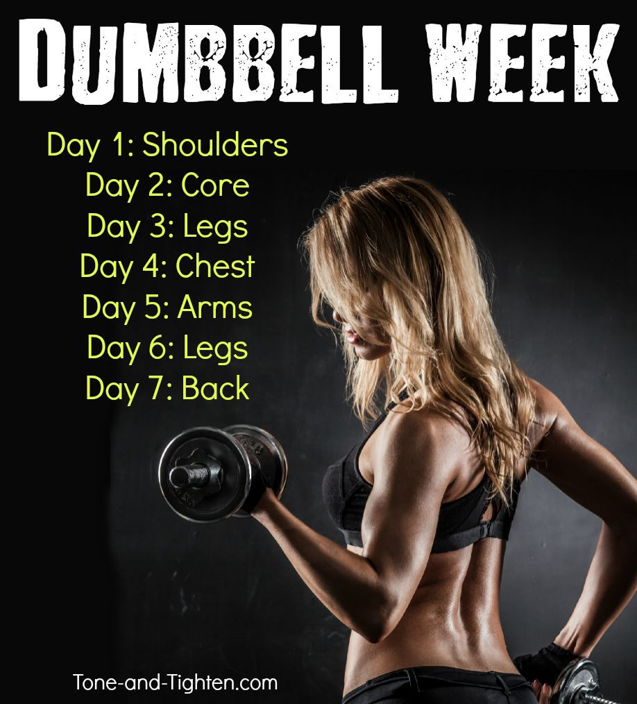 Free Weights Total Body Workout: At Home Workouts With Dumbbells