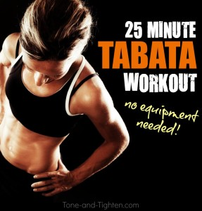 25 minute at home tabata interval workout tone tighten