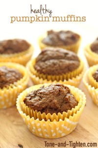 Healthy Whole Wheat Pumpkin Muffins on Tone-and-Tighten.com