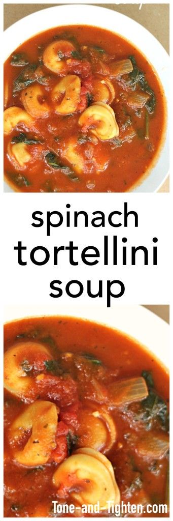 Spinach Tortellini Soup from Tone-and-Tighten.com