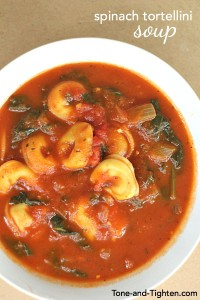 Spinach Tortellini Soup on Tone-and-Tighten.com