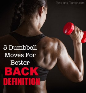 at home back workout with dumbbells tone tighten