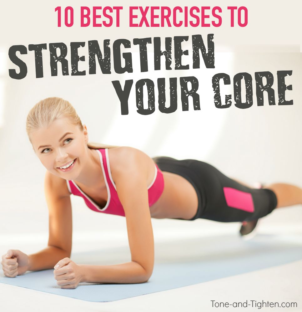 best core strength exercise workout tone tighten