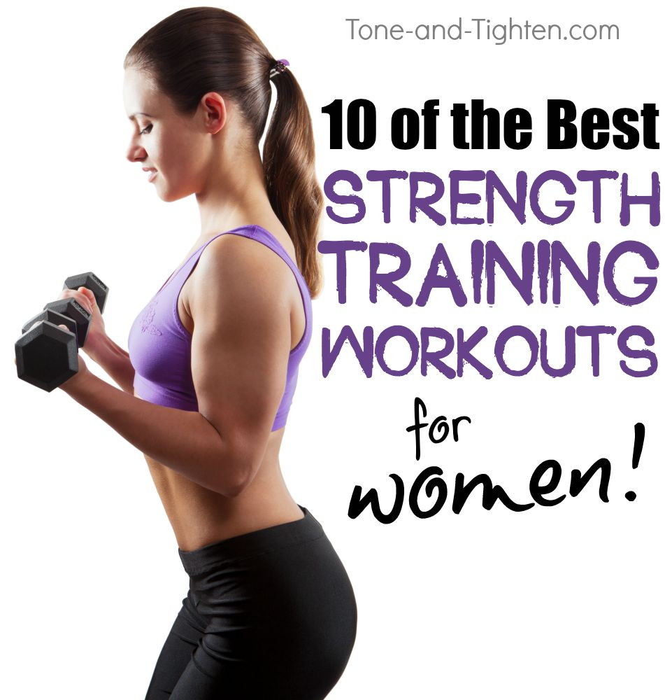 best strength training workout women tone tighten