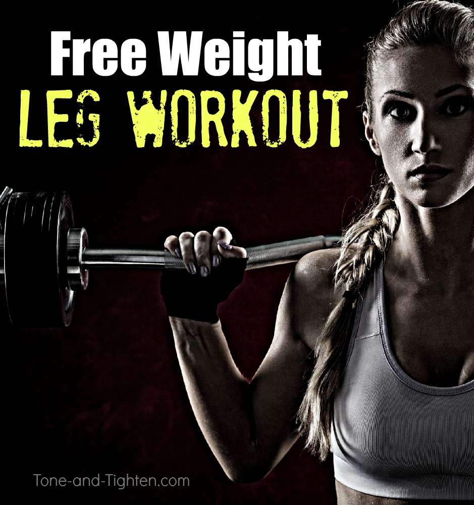 free weight dumbbell barbell leg workout tone tighten