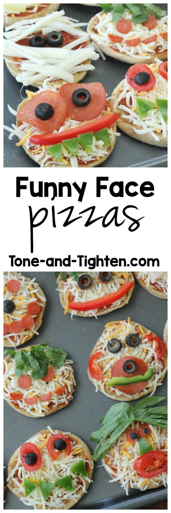 Funny Face Pizzas from Tone-and-Tighten.com