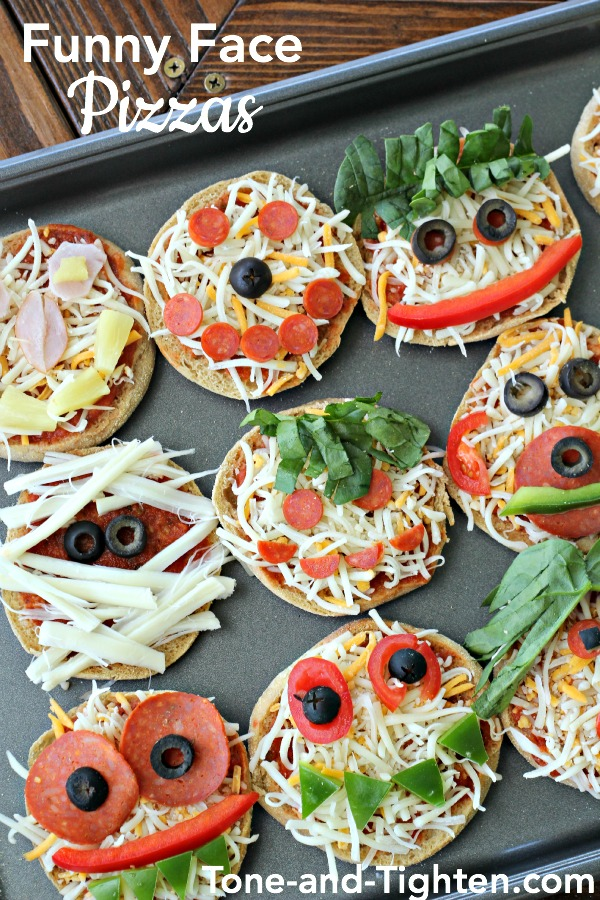 Funny Face Pizzas on Tone-and-Tighten.com
