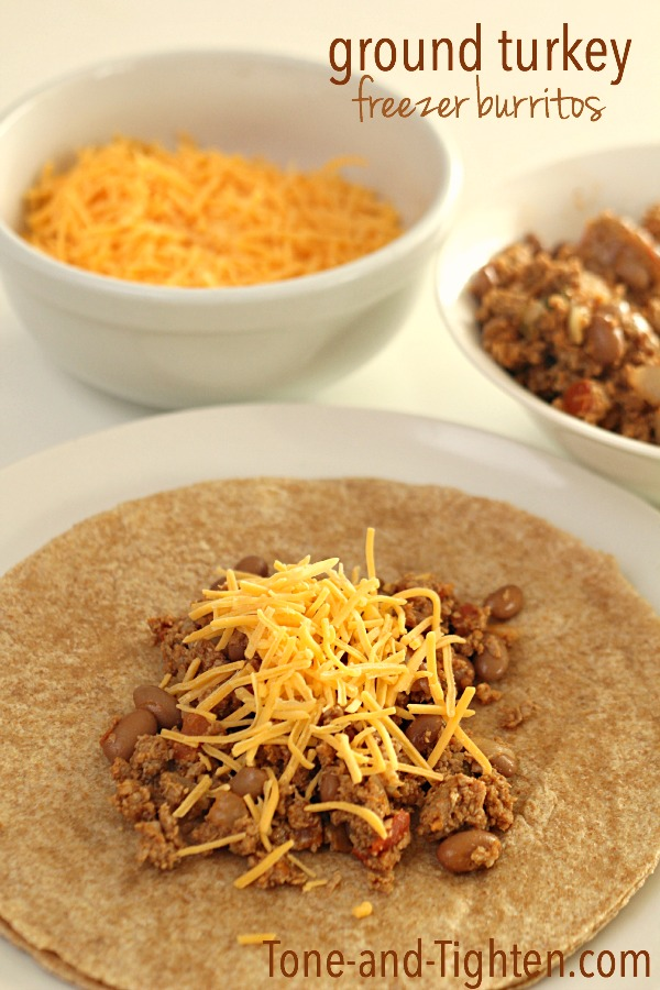 Ground Turkey Freezer Burritos on Tone-and-Tighten.com