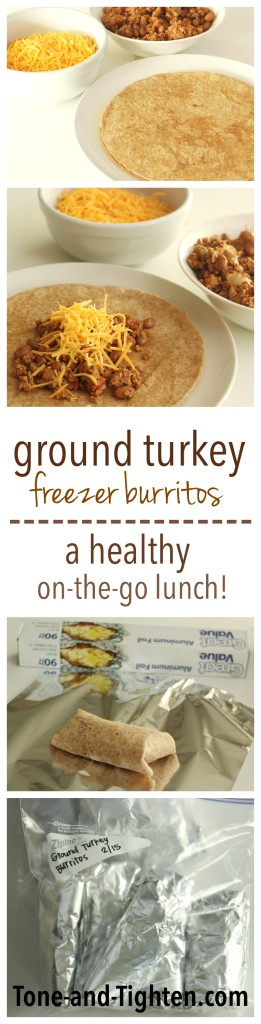 How to make Ground Turkey Freezer Burritos on Tone-and-Tighten.com
