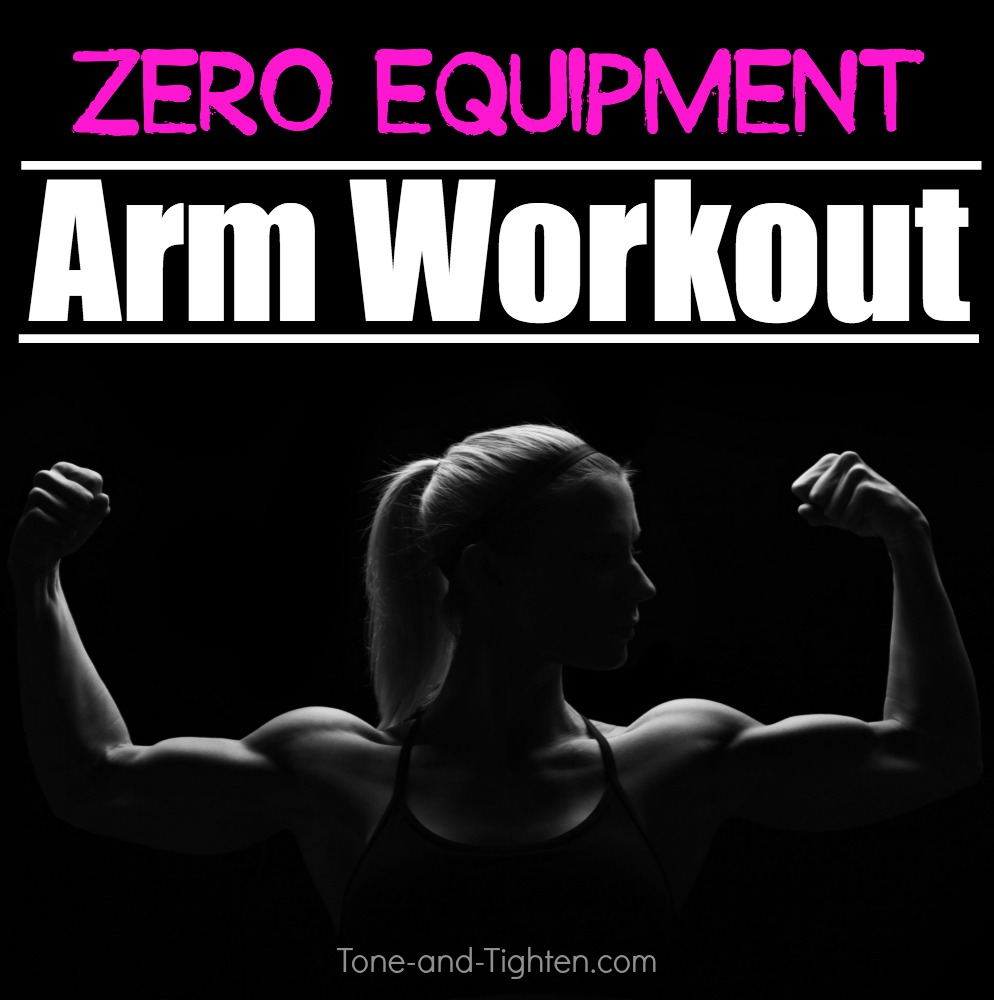 At Home Arm Workout No Equipment Weights