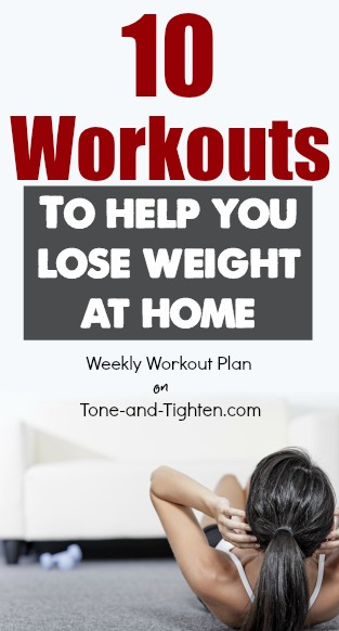 at home workouts to lose weight tone tighten pinterest