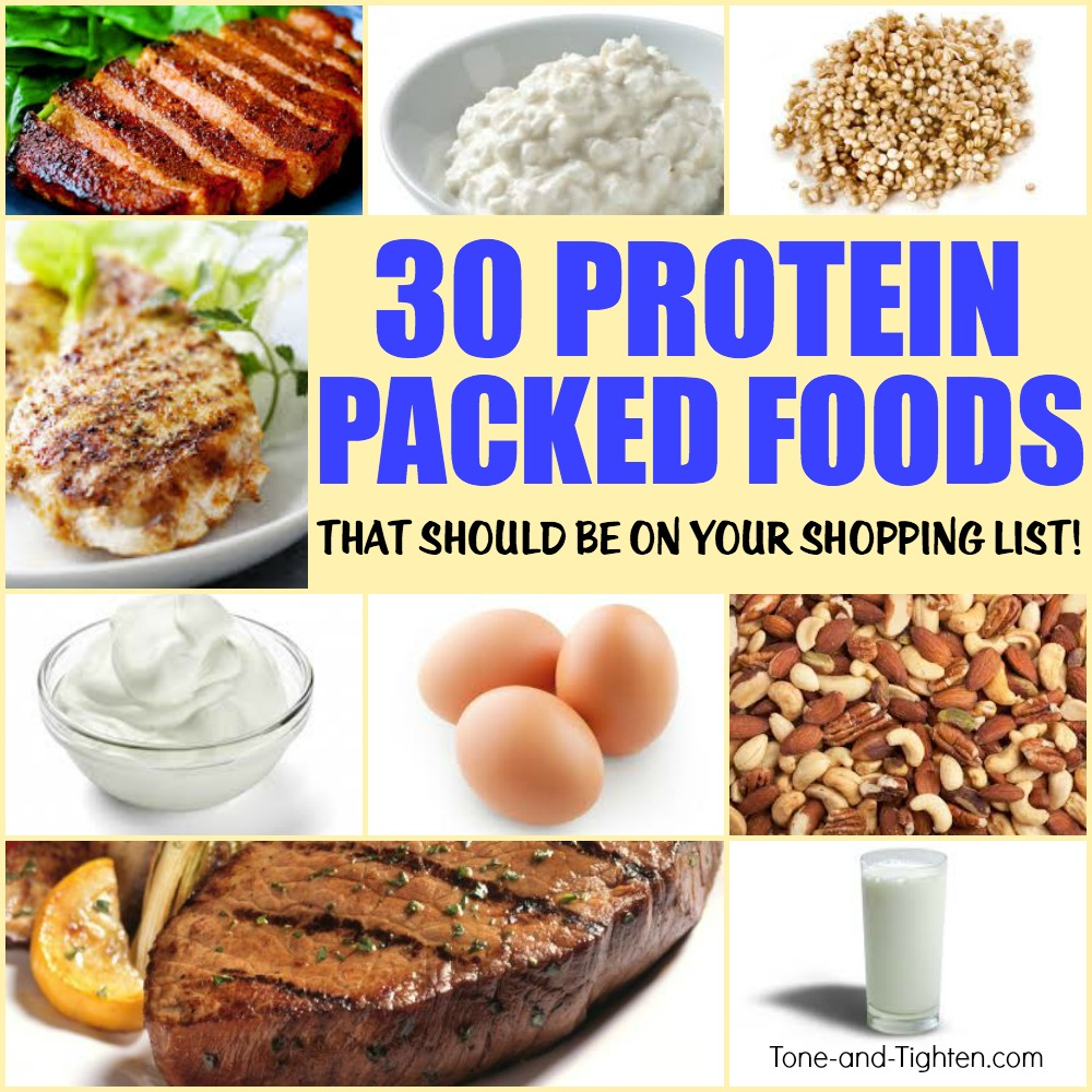 best protein food items tone tighten