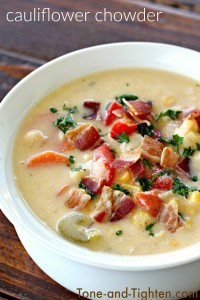 Cauliflower Chowder on Tone-and-Tighten.com