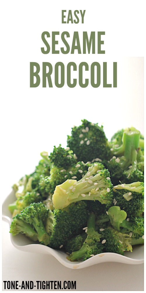 Easy Sesame Broccoli from Tone-and-Tighten.com