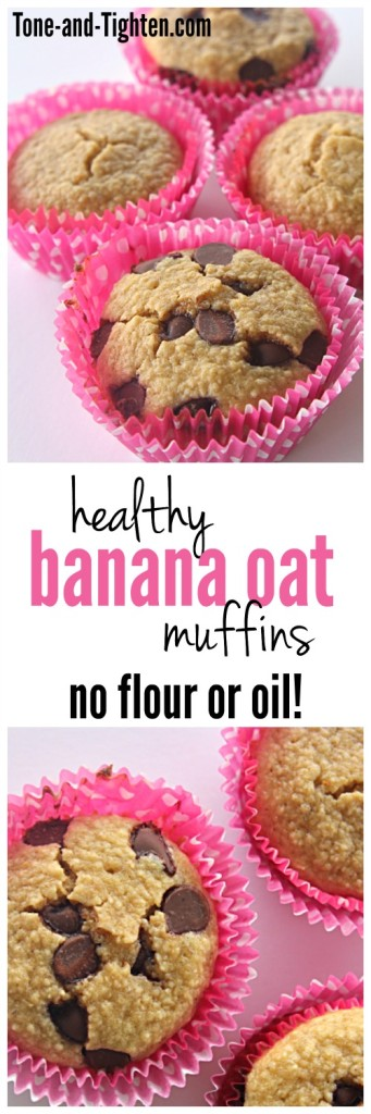 Healthy Banana Oat Muffins from Tone-and-Tighten.com