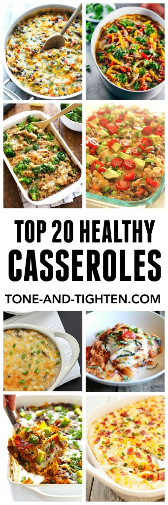 Top 20 Healthy Casseroles on Tone-and-Tighten.com