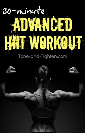 advanced 30minute hiit workout  tone and tighten
