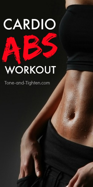 at home cardio abs workout tone tighten pinterest