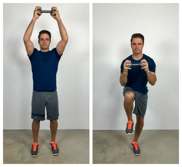 dumbbell crunch standing abs exercise