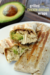 grilled chicken avocado wraps