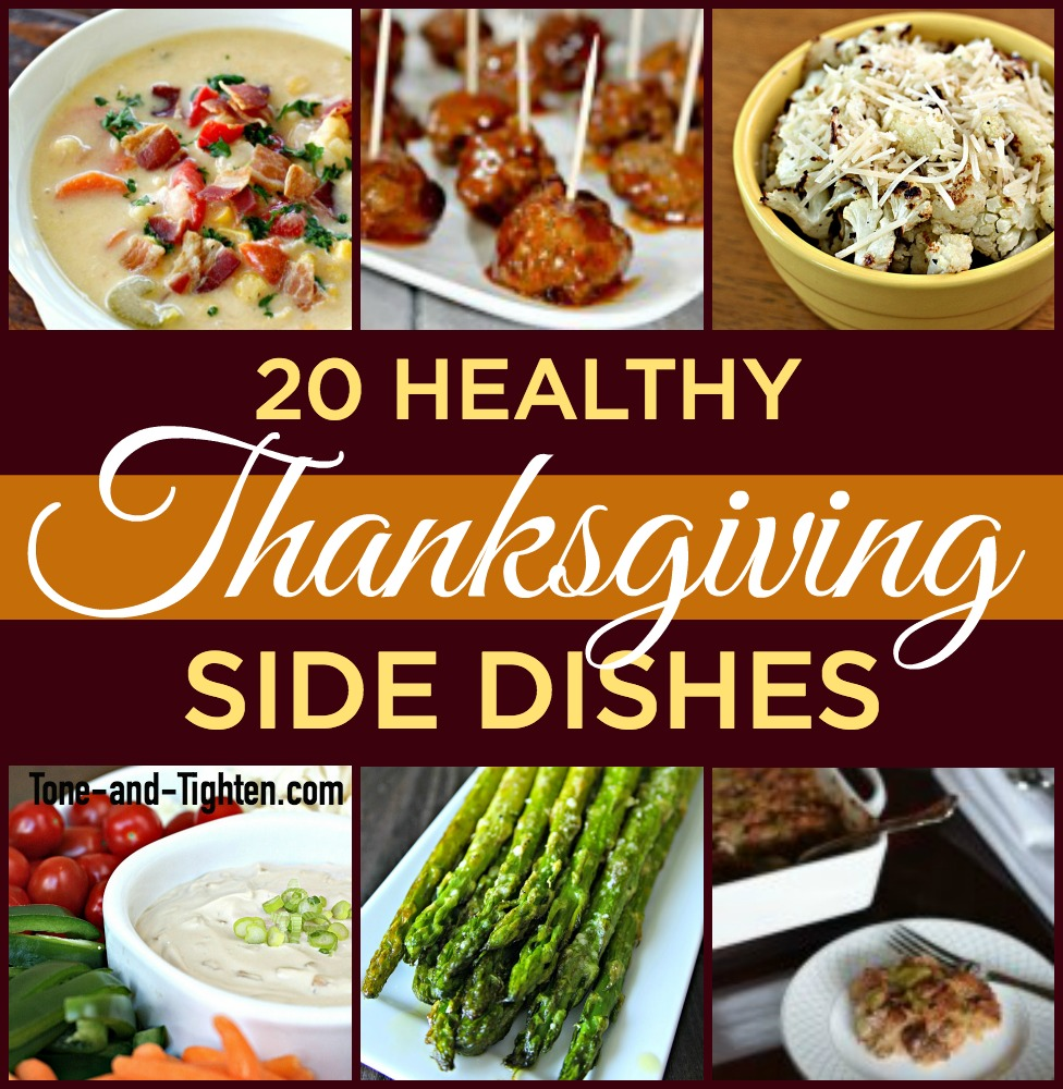 healthy thanksgiving side dishes tone tighten