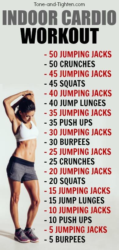 Indoor Cardio Workout Tone Tighten