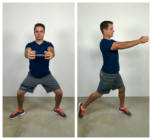 plie squat and twist standing abs exercise