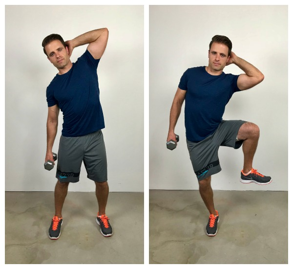 standing oblique side bend ab exercise