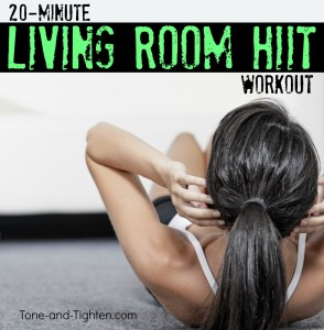 20 minute living room HIIT workout exercise
