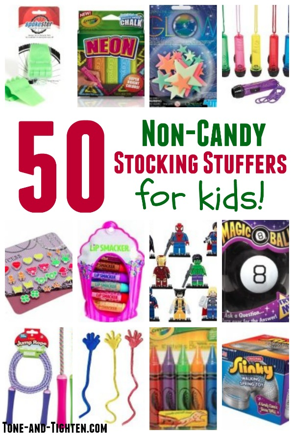 50 of the Best Non-Candy Stocking Stuffers for Kids on Tone-and-Tighten.com