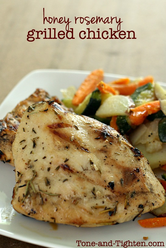 Honey Rosemary Grilled Chicken on Tone-and-Tighten.com
