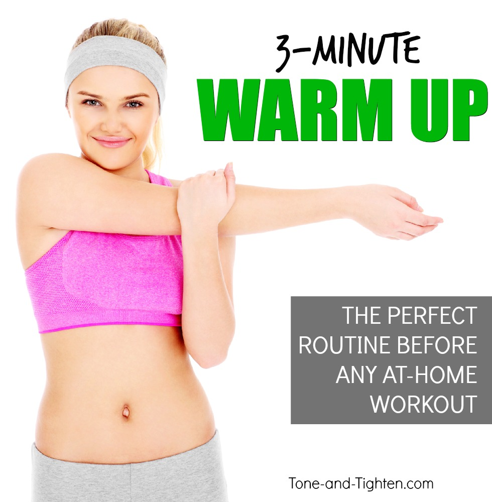 at home warm up pre workout tone tighten