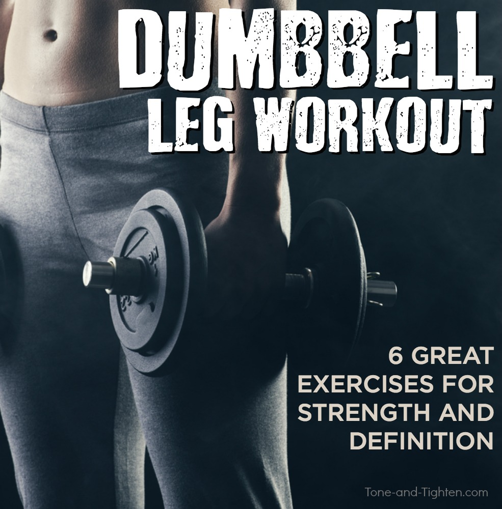 dumbbell leg workout at home tone tighten