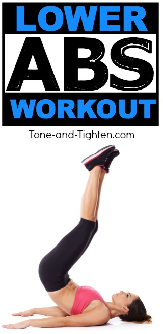 lower abs workout tone tighten pinterest