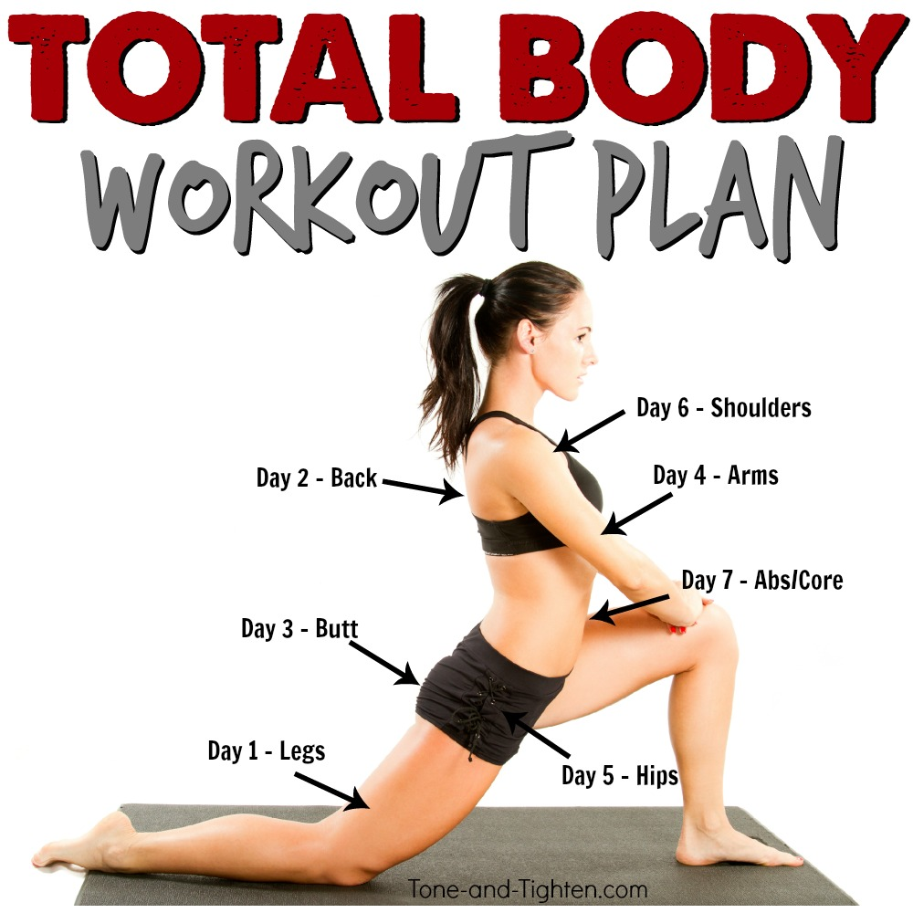 Total Body Workout Plan At Home Exercise Routine