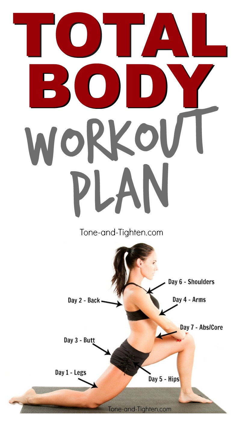 total body workout plan free pinterest