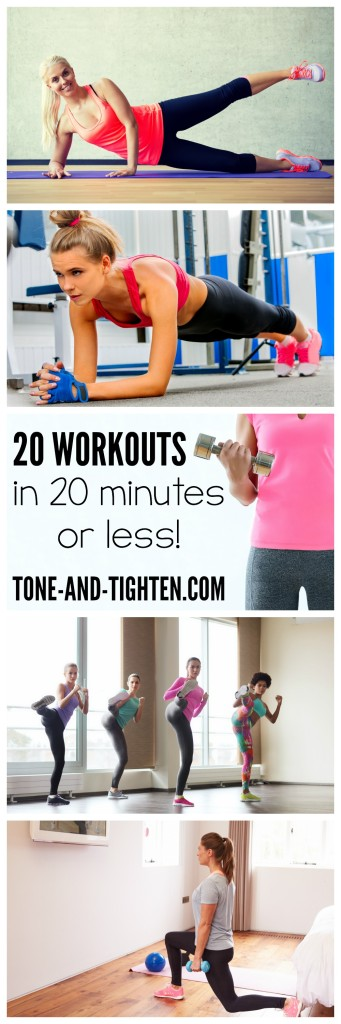 20 Cardio Workouts 20 Minutes or less on Tone-and-Tighten