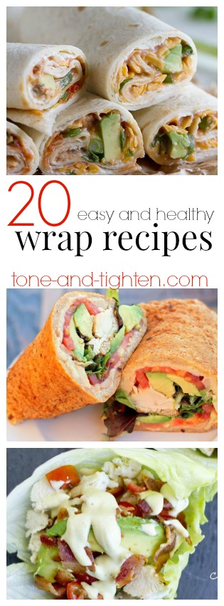 20 easy healthy wrap recipes pin