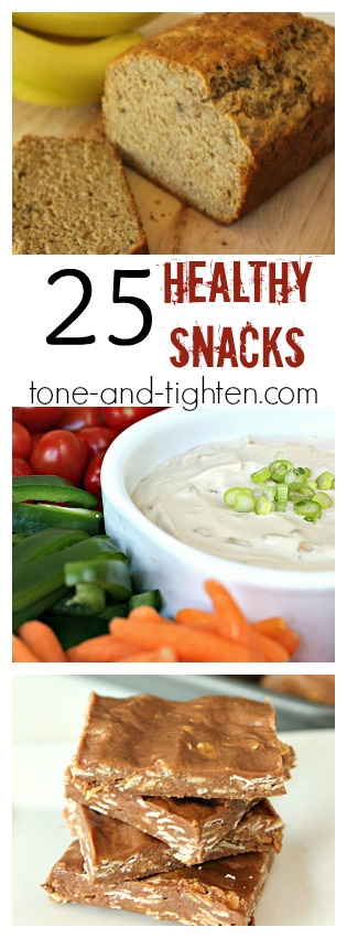 25 Healthy Snack Recipes from Tone and Tighten