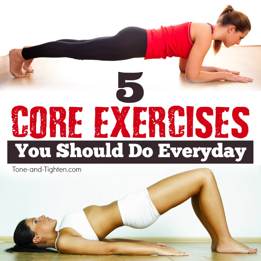 5 Core Exercises Everyone Should Do | Tone and Tighten