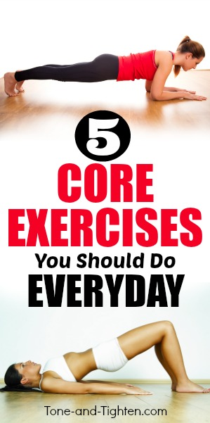 5 core exercises you should do everyday pinterest