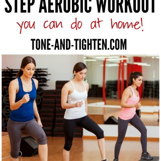 At Home Step Aerobic Workout on Tone-and-Tighten