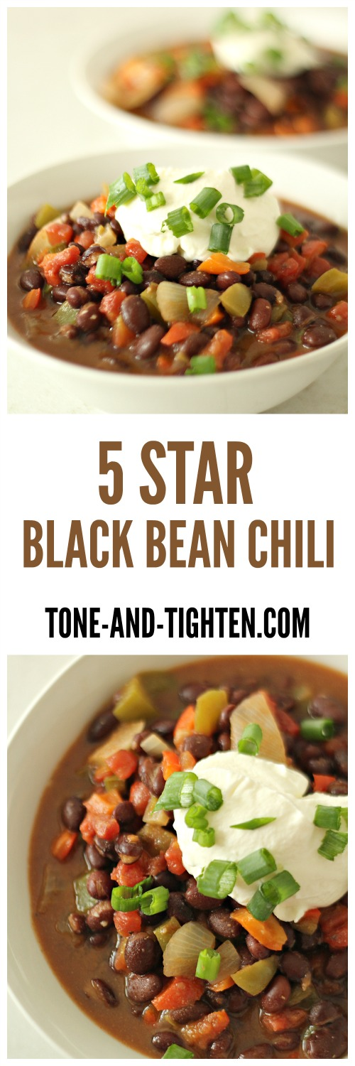 Five Star Black Bean Chili from Tone-and-Tighten