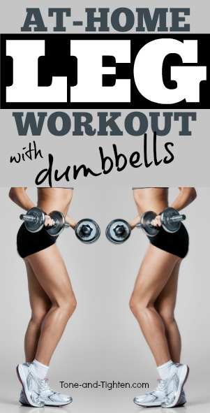 at home leg workout with dumbbells pinterest