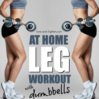 at home leg workout with dumbbells tone tighten