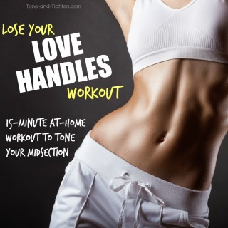 at home workout for love handles