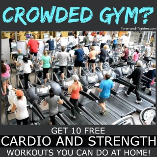 crowded gym at home cardio strength workout