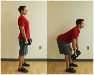 dumbbell dead lift